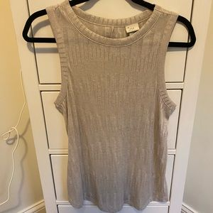 A New Day textured neutral tank top